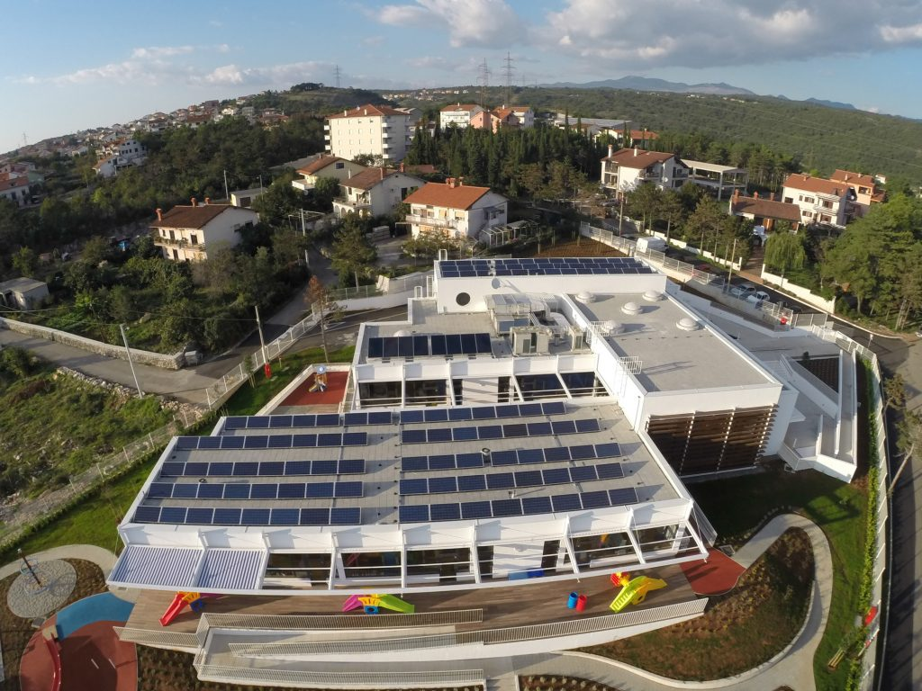 Rijeka Kindergarten with solar panels